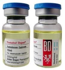 Testabol Depot Cypionate British Dragon 10ml (Testosterone Cypionate) 200mg/ml