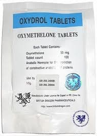Oxydrol British Dragon 100 tabs (Oxymetholone) 50mg/tab