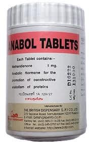 Anabol tablets 5 mg ( Dianabol, Methandienone ) British Dispensary labs 1000 tabs