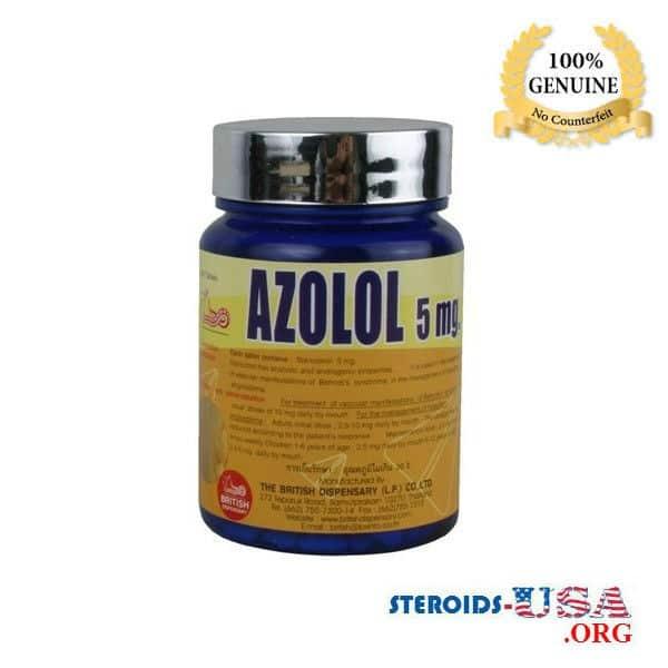 Azolol 5mg British Dispensary 500 Tablets (Winstrol Pills)