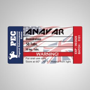 Anavar PEC UK/USA Lab 50tabs [10mg/tab]