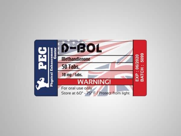 D-Bol Pec Labs UK/USA 50tabs [10mg/tab)