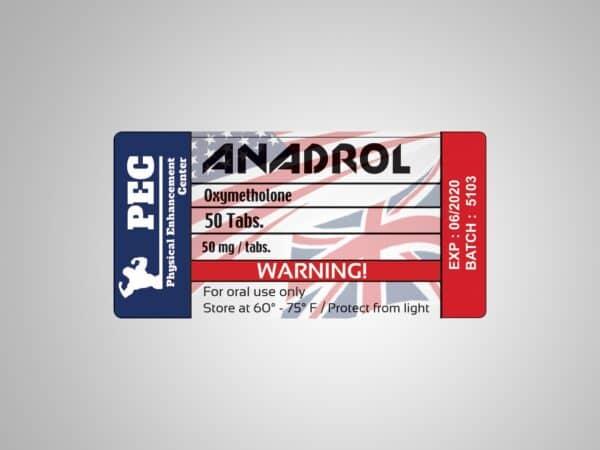 Anadrol 50 by Pec Labs UK/USA 50 tabs [50mg/tab]