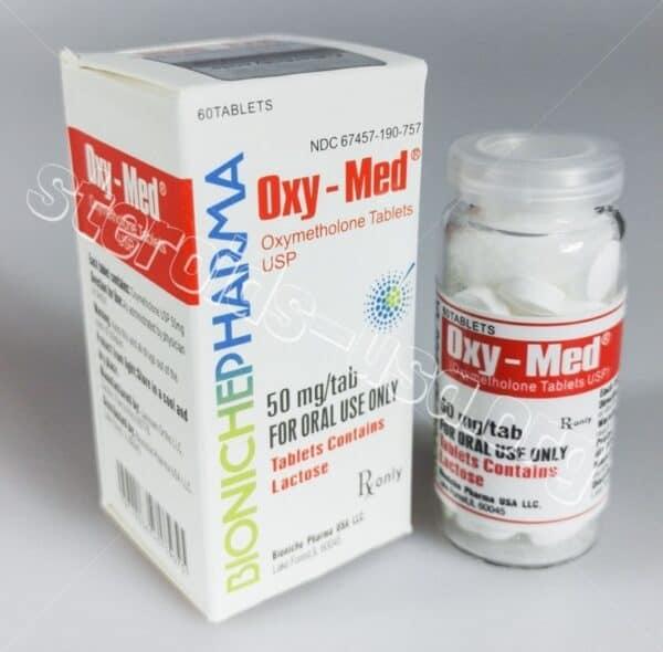Oxy-Med Bioniche Pharma (Oxymethlone,Anadrol) 60tabs (50mg/tab)