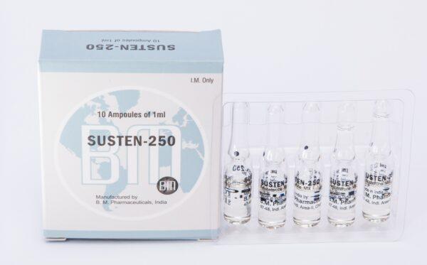 Susten 250 BM Pharmaceuticals (Sustanon, Test Mix) 12ML (6X2ML Vial)